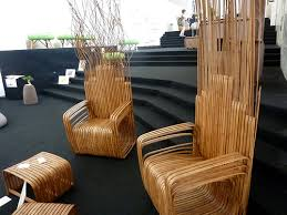 gorgeous interior design with chairs that made from bamboo bamboo furniture design