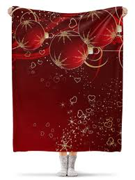 Плед флисовый 130×170 см <b>Merry</b> Christmas #1778077 – купить ...