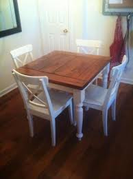 small square kitchen table: square turned leg farmhouse kitchen table do it yourself home projects from ana white