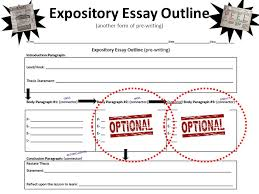expository writing ninth grade eoc writing test  expository essay    expository essay outline  another form of pre writing  first next  finally