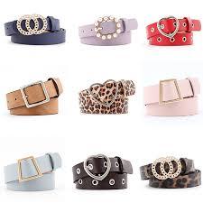 <b>Women Belts Luxury</b> Brand PU Leather Belt Casual Solid Color ...