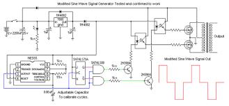 modified sine wave signal generator 5 steps Sine Wave Inverter Circuit Diagram the signal circuit show all items pure sine wave inverters sine wave inverter circuit diagramusing 555