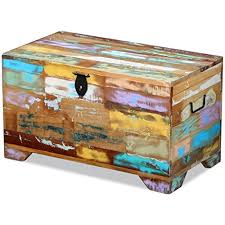 vidaXL <b>Storage Chest</b> Coffee Side Couch Table Living Room <b>Solid</b> ...