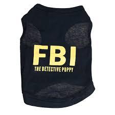 <b>Spring</b> Summer T Shirt <b>Dog Clothes for</b> Samll Dogs Pet FBI Grid ...
