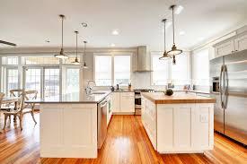 kitchen trendy kitchen photo in philadelphia with stainless steel appliances and wood countertops image island lighting fixtures kitchen luxury