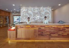 the agate pattaya boutique resort reception counter boutique reception counter