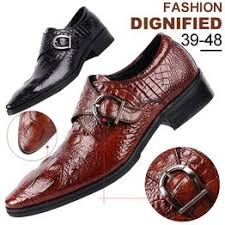 Large Size Men Business Designer Crocodile Leather Shoes ... - Vova