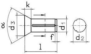 <b>Штифт с потайной головкой</b> DIN 1477. Штифты DIN 1477 ...