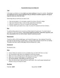 cover letter argumentative essay examples for college good cover letter best essay sample teachingargumentative essay examples for college extra medium size