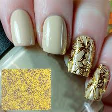 <b>1 Sheet Embossed 3D</b> Nail Art Stickers Blooming Flower Decals ...