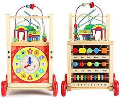 Wooden children's walker baby walker multi-function wooden <b>puzzle</b> ...