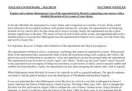 macbeth supernatural essay  www gxart orgmacbeth essays supernatural l arginine research papersempire state college application essay