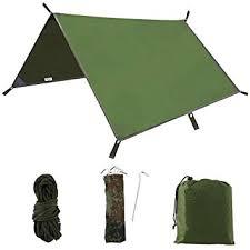 hotbesteu 3m x 3m Hammock Rain Fly Tent Tarp Waterproof ...