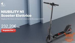 <b>NIUBILITY N1</b>, the <b>electric scooter</b> to catch on the fly - On offer at 232 €
