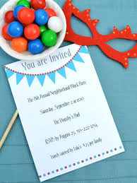 printable birthday invitations for all ages