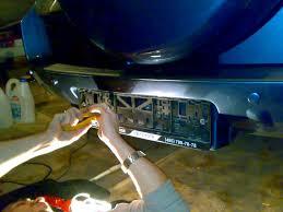 <b>Подсветка заднего номерного знака</b> — Toyota RAV4, 2.4 л., 2008 ...