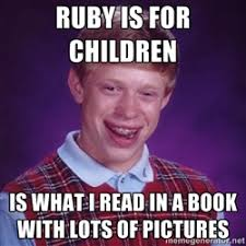 forked in Ruby universe didn't implode - Success Kid | Meme Generator via Relatably.com