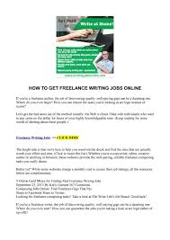 how to get lance writing jobs online by akellajustus issuu