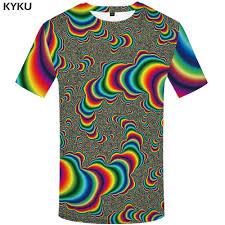 <b>KYKU Psychedelic T-shirts</b> Men Dizziness <b>Tshirts</b> Print Harajuku <b>T</b> ...
