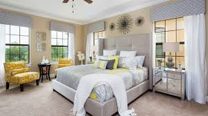 yellow and gray bedroom:  visually pleasant yellow and grey bedroom designs home design lover