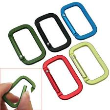 <b>5Pcs</b> Aluminum Snap <b>Hook Carabiner</b> D-Ring Key Chain <b>Clip</b> ...