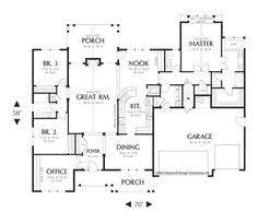 images about House Plan on Pinterest   House plans  Floor    Mascord House Plan A