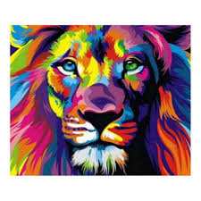 <b>Full</b> Drill Lion <b>Animal 5D Diamond</b> DIY Wall Hanging Painting Craft ...