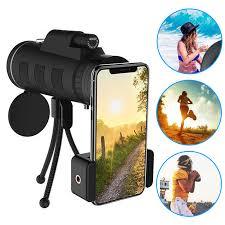 Lens for phone <b>40X60 Zoom</b> for Smartphone <b>Monocular Telescope</b> ...