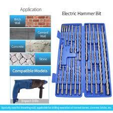 <b>20pcs 1 Box</b> SDS Plus Rotary Drill Bits Electric Hammer Drill Set ...