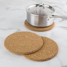 KSP Cork Round Trivet - <b>Set of 3</b> (<b>Natural</b>) | Kitchen Stuff Plus