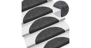 <b>15pcs</b> Self-adhesive <b>Stair Mats</b> Needle Punch 54x16x4cm Dark Grey