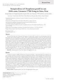 (PDF) Seroprevalence of Toxoplasma gondii in cats (Felis catus ...