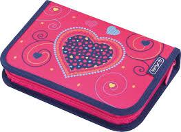 <b>Herlitz Пенал 31</b> предмет, розовый Hearts купить в интернет ...