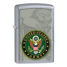 <b>Зажигалка ZIPPO US</b> Army, латунь с покрытием Street Chrome ...