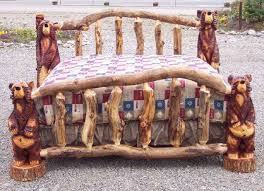 aspen log complete bedroom set includes aspen log canopy bed full size standard size log beds at highcountryfu