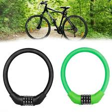 <b>Bicycle Bike</b> Lock 4 Digit Combination <b>Code</b> Steel Cable Security ...