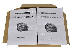 <b>4Pcs</b>/<b>Lot</b> LED Par Light 54x3W RGBW <b>High</b> Power LED Par Wash ...