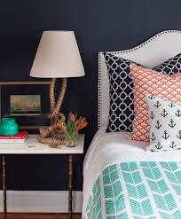 Nautical Themed Bedroom Decor Navy Blue Nautical Themed Boys Bedroom Ideas With Anchor Pattern