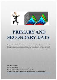 primary secondary data