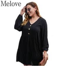 Autumn Fashion New XL-4XL Plus Size V-neck Long Sleeve ... - Vova