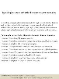 top8highschoolathleticdirectorresumesamples 150410043223 conversion gate01 thumbnail 4 jpg cb 1428640356