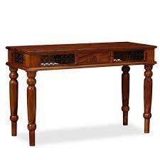 Vintage <b>Writing Table Solid Sheesham</b> Wood Furniture | Wood ...