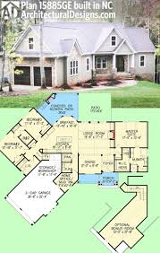 images about House Plans on Pinterest   House plans  House    Architectural Designs Craftsman House Plan GE client built in North Carolina      sq