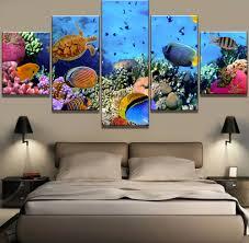 <b>5</b> Piece <b>HD Print Large</b> Underwater Sea Fish Coral Reefs Paintings ...