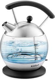 Купить <b>Чайник электрический KITFORT</b> KT-6104, черный в ...