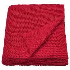 Купить <b>ИГАБРИТТА Плед</b>, красный, 130x170 см по выгодной цене