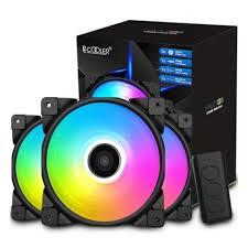 <b>Вентилятор</b> для корпуса <b>PCCooler HALO</b> RGB KIT 120x120x25мм ...