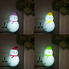 <b>Christmas</b> Bedroom Easy Operation LED Lamp Mini <b>Snowman</b> ...