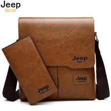 <b>JEEP BULUO</b> Man Messenger Bag 2 Set Leather Shoulder Bags ...