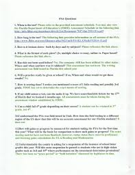 the florida state standards common core duval county council fsa questions page 1